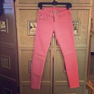 Authentic true religion pink jeans!